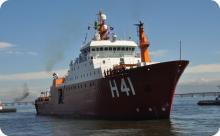 """AMRJ conclui manutenção do NPo """"Almirante Maximiano"""" para a XXXVI OPERANTAR"""