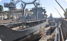 Arsenal realiza docagem simultânea de três navios no Dique Almirante Régis