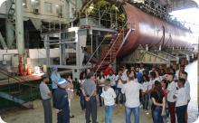 Arsenal de Marinha recebe visita de Colégio Estadual