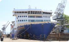 Arsenal realiza docagem de navio mercante no Dique Almirante Régis