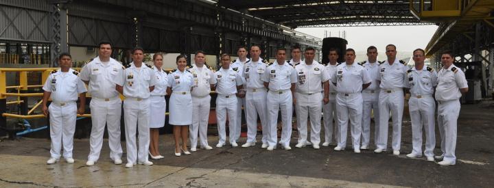 AMRJ recebe visita da Escola de Aperfeiçoamento de Oficiais da Armada do Paraguai