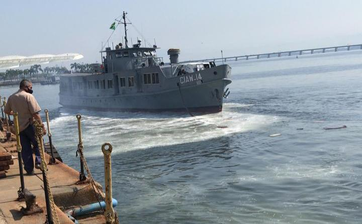 Arsenal de Marinha conclui manutenção e desdoca o Aviso Rio Chuí