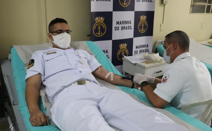 Marinha do Brasil promove campanha de doação de sangue para o Programa Pátria Voluntária