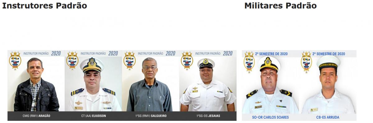 instrutores e militares padráo