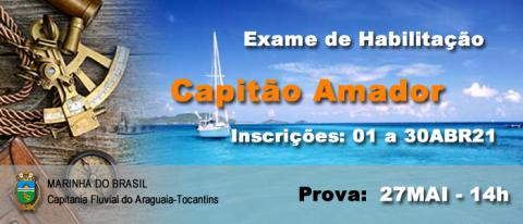 Exame de habilitação Capitão Amador