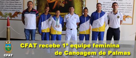 CFAT recebe 1ª equipe feminina de Canoagem de Palmas-TO