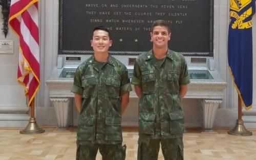 Aspirantes Fuzileiros Navais da Escola Naval visitam instalações do United States Marine Corps