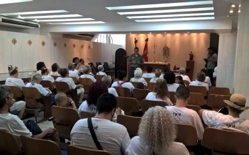 Visitantes conheceram a capela da Fortaleza de São José da Ilha das Cobras