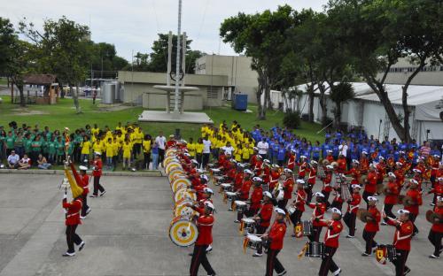 As crianças do PROFESP também participaram do evento, que contou com apresentação da Banda Marcial do CFN