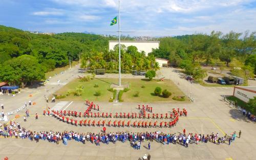 A Banda Marcial do CFN foi uma das atrações do evento
