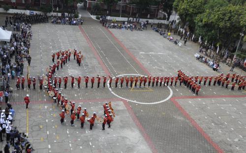 A Banda Marcial do CFN se apresentou em Sorocaba no primeiro dia