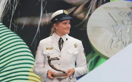 A Sargento Kahena Kunze foi uma das premiadas da noite