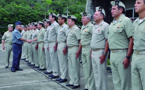 A homenagem foi realizada na sede do Comando da Divisão Anfíbia