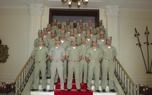 Na ocasião, os militares receberam explicações históricas sobre o CFN e realizaram visita guiada ao Museu