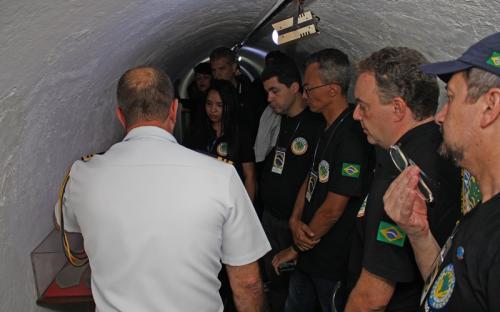 Túneis históricos fizeram parte da visita guiada ao Museu do CFN