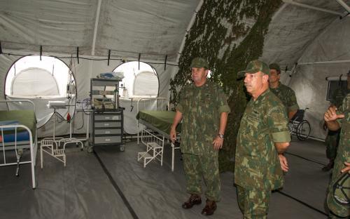 Acampamento da RCA simula uma base desdobrada na área de operações