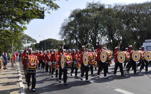 As atividades foram encerradas com a apresentação da Banda Marcial no desfile cívico-militar