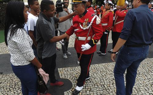 Banda Marcial realizou performance especial para os convidados