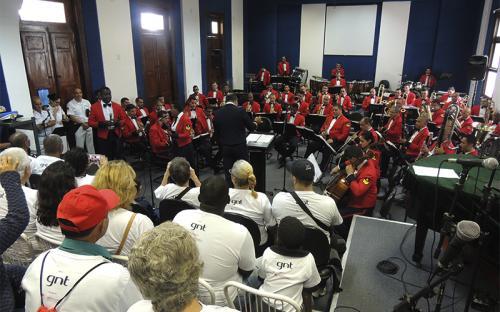 Banda Sinfônica se apresentou na ocasião