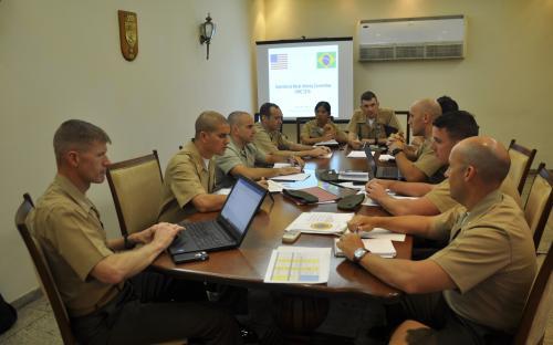 CFN participou de Comitê Operativo de Fuzileiros Navais com Oficiais do United States Marine Corps