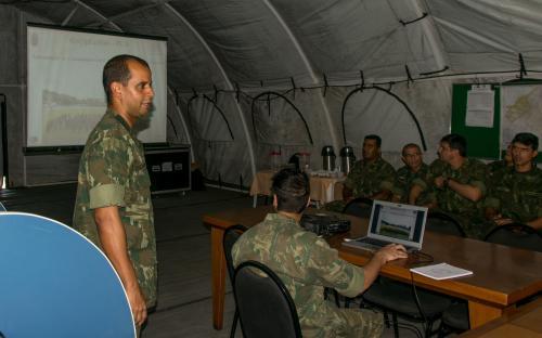 Comandante do Grupamento Operativo profere palestra de atualização sobre o preparo para a RCA