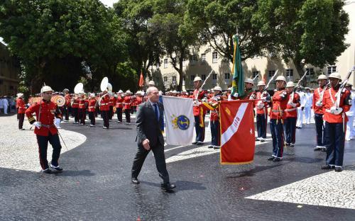 Ministro da Defesa presidiu a cerimônia alusiva aos 212 anos do Corpo de Fuzileiros Navais