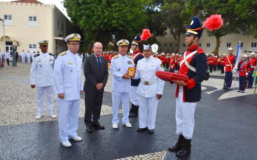 No evento, foi homenageado, ainda, o Cabo Fuzileiro Naval de Máquinas e Motores Gilmar Correia da Silva, eleito Fuzileiro Padrão 2019