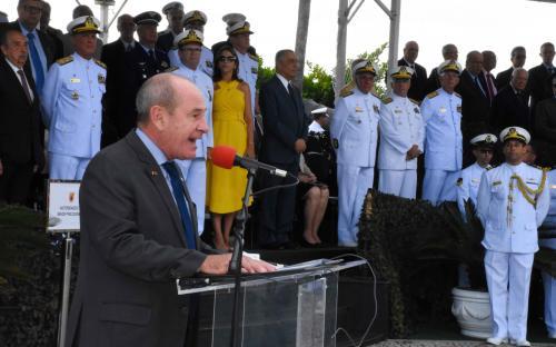 O ministro da Defesa destacou a importância que os fuzileiros navais exercem na sociedade desde 1808