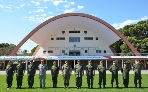 A comitiva americana participou de atividades em Organizações Militares do CFN