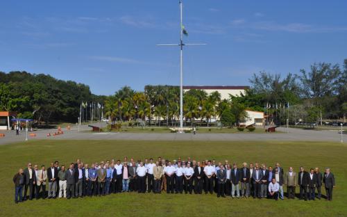 Capitães de Mar e Guerra veteranos se reuniram no CIASC para mais uma edição do encontro anual