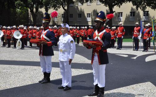 O Cabo Fuzileiro Padrão 2017 foi homenageado por ocasião da cerimônia