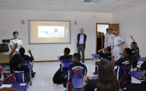 O jornalista conheceu as atividades dos jovens do PROFESP