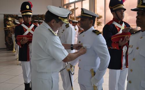 Ocasião marcou entrega de medalhas militares por tempo de bons serviços prestados à Marinha do Brasil