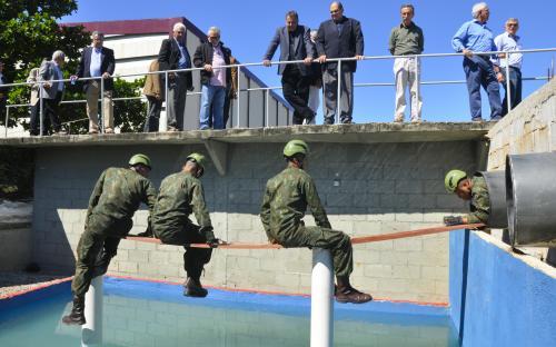 Demonstração na pista de liderança foi uma das atividades do dia