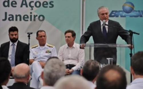 fce5e24fc View the full image Presidente Temer discursa em lançamento de programa  social no CEFAN