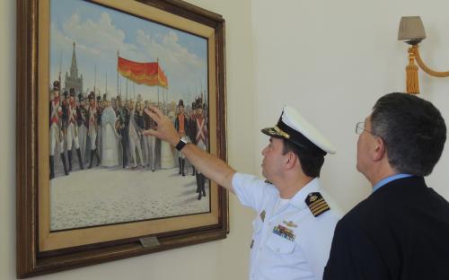 Presidente da SOAMAR também conheceu as instalações do CGCFN