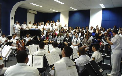 Programação contou com apresentação da Banda Sinfônica