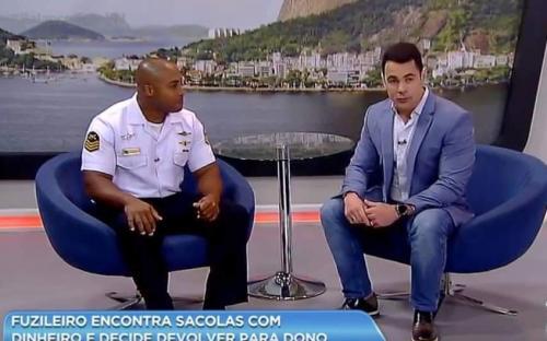 O militar concedeu uma entrevista ao programa Balanço Geral da TV Record
