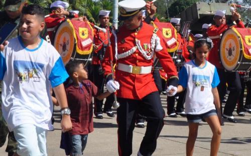 A Banda Marcial foi uma das atrações