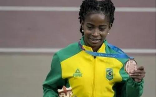 A Sargento Vitória Rosa (100 metros) garantiu a medalha de bronze no Atletismo