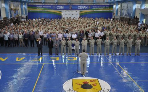 Comandante-Geral do CFN discursa para Oficiais no CEFAN