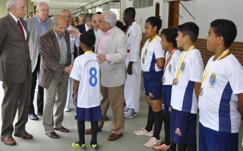 Almirantes cumprimentaram atletas do CEFAN