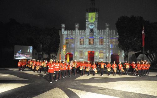 Banda Marcial do CFN foi uma das atrações do evento