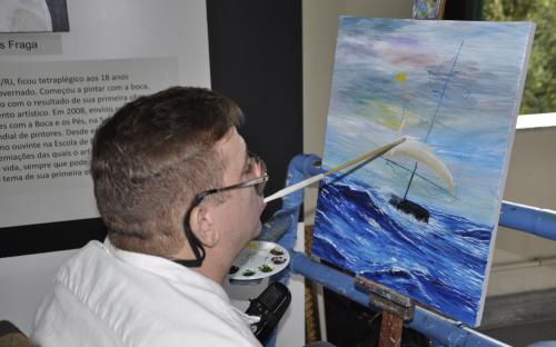 Mostra reúne 27 obras de temática militar naval