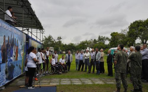 Os Oficiais da reserva foram apresentados aos atletas do Comitê Paralímpico Brasileiro