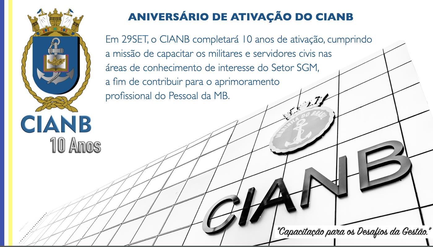Aniversário de ativação do CIANB