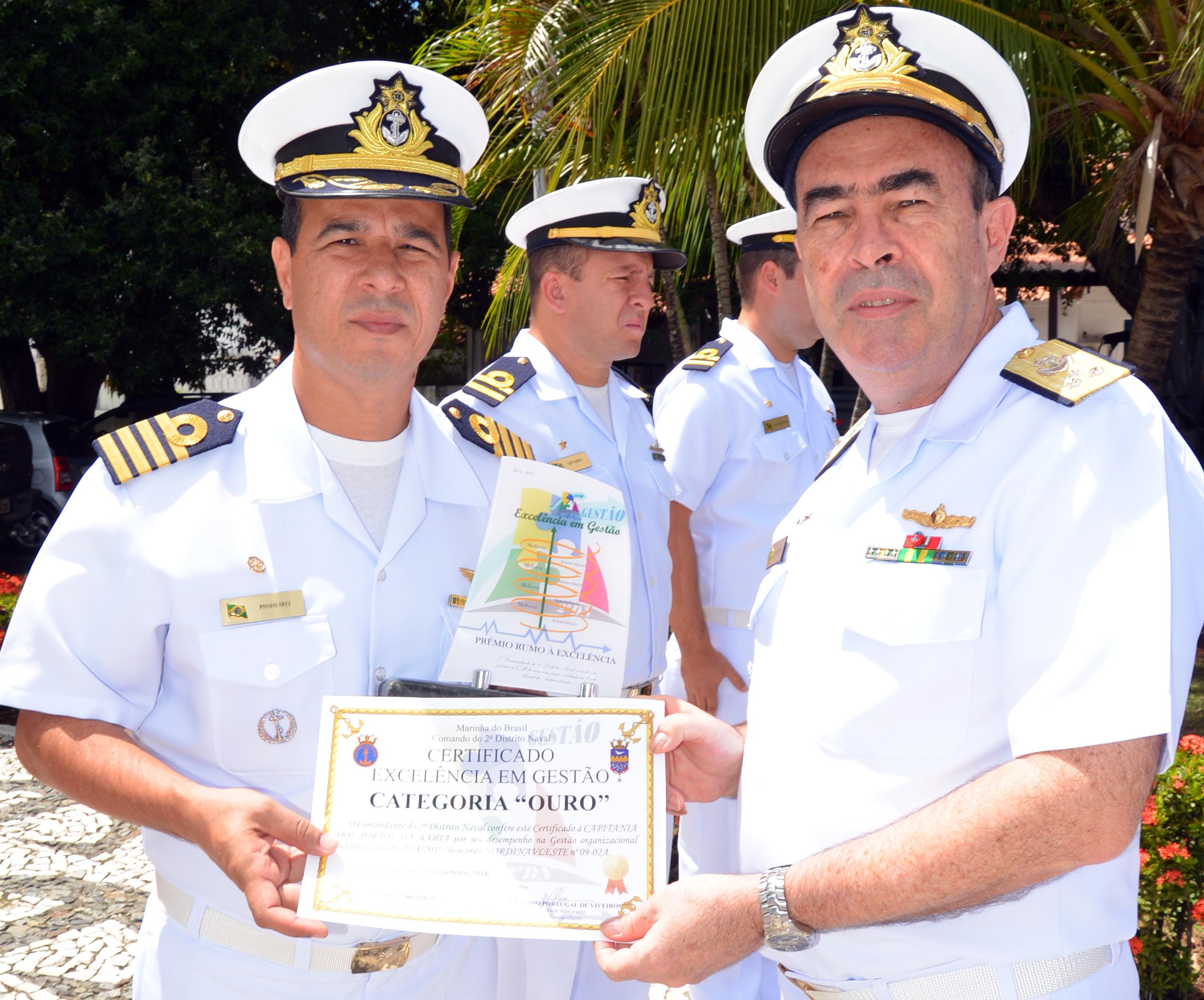Capitania dos Portos da Bahia recebe o Prêmio Rumo à Excelência