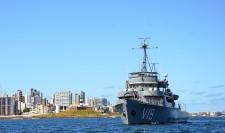 Navios do 2º Distrito Naval atuam na defesa marítima para as partidas do Futebol Olímpico em Salvador