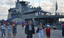 "NE ""BRASIL"" Visita o porto de Salvador"