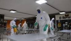 Na ação, foi realizada aplicação de produtos e a desinfecção do ambiente